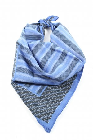 Street One Pocket Square blue striped pattern casual look