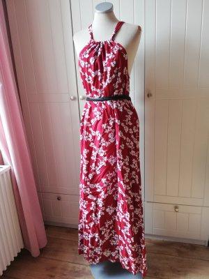 Street one EUR 38 S M Maxikleid Kleid lang Strandkleid rot weiß