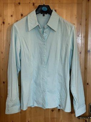 Street One Blusa de manga larga azul claro