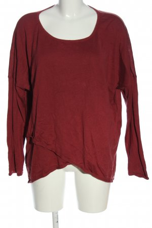 Street One Feinstrickpullover rot Zopfmuster Casual-Look