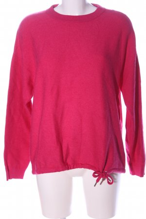 Street One Feinstrickpullover pink Zopfmuster Casual-Look