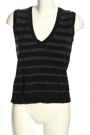 Street One Fine Knitted Cardigan black-light grey striped pattern elegant