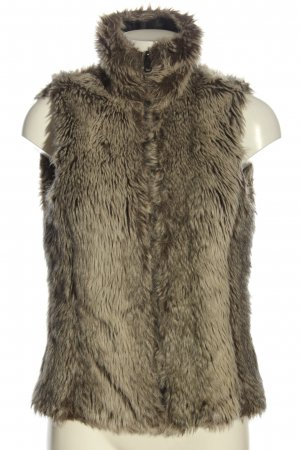 Street One Fur vest natural white-light grey casual look