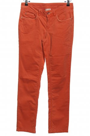 Street One Spodnie z pięcioma kieszeniami jasny pomarańczowy W stylu casual