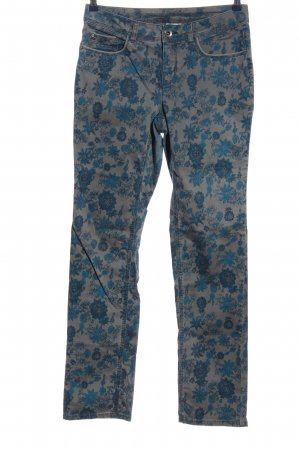 Street One Five-Pocket-Hose hellgrau-blau Blumenmuster Casual-Look