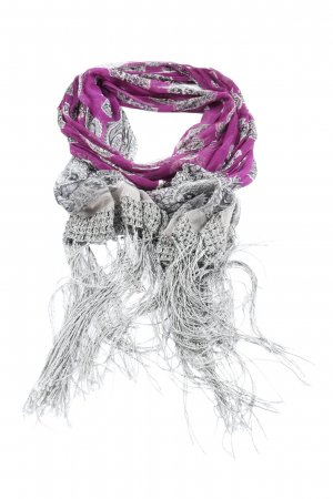 Street One Fringed Scarf abstract pattern casual look