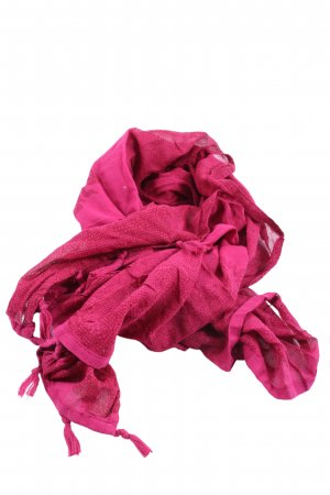 Street One Fringed Scarf pink allover print casual look