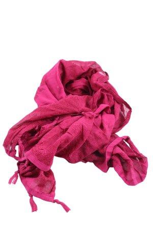 Street One Bufanda de flecos rosa estampado repetido sobre toda la superficie