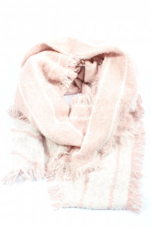 Street One Fringed Scarf cream-white striped pattern casual look