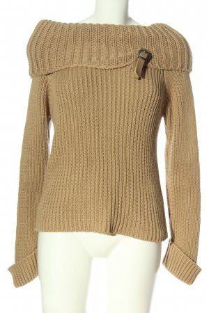 Street One Grobstrickpullover braun Zopfmuster Casual-Look