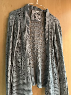 Street One Crochet Cardigan grey