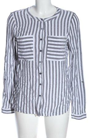 Street One Hemd-Bluse weiß-schwarz Streifenmuster Casual-Look