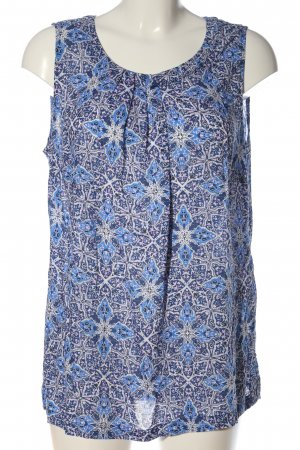 Street One Hemd-Bluse blau-weiß Allover-Druck Casual-Look