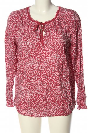 Street One Hemd-Bluse rot-weiß Allover-Druck Casual-Look