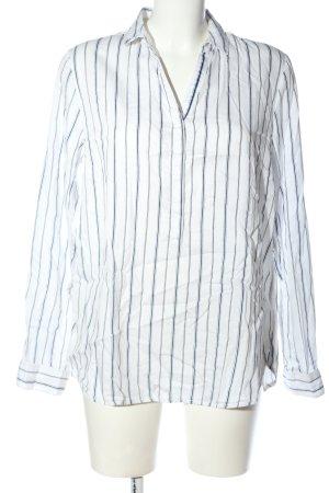 Street One Hemd-Bluse weiß-blau Allover-Druck Casual-Look