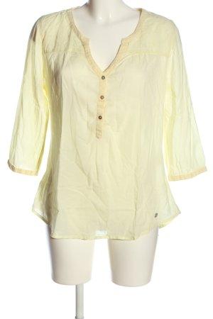 Street One Hemd-Bluse blassgelb Casual-Look