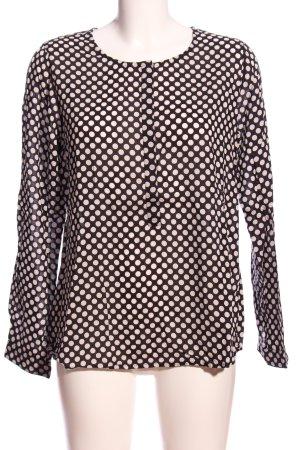 Street One Hemd-Bluse schwarz-weiß Punktemuster Casual-Look
