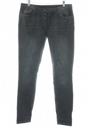 Street One Hoge taille jeans zwart gestippeld casual uitstraling