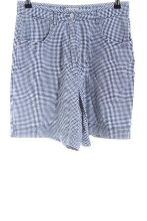Street One High-Waist-Shorts blau-weiß Allover-Druck Casual-Look