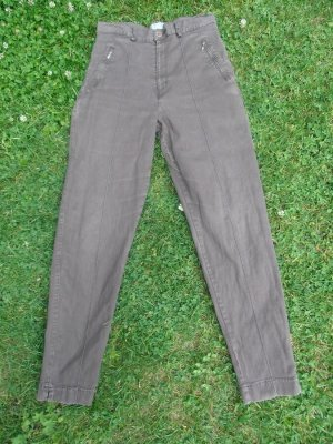 Street One Pantalon fuselé brun foncé coton