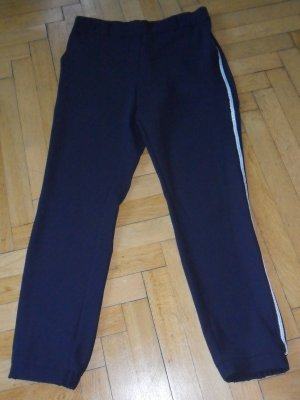 Street One Low-Rise Trousers dark blue-silver-colored