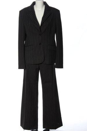 Street One Tailleur-pantalon noir-blanc imprimé allover style d'affaires