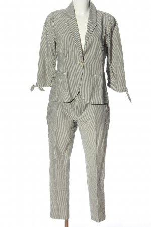 Street One Trouser Suit white-black striped pattern elegant