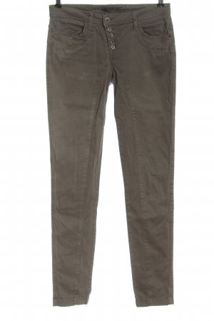 Street One pantalón de cintura baja marrón look casual