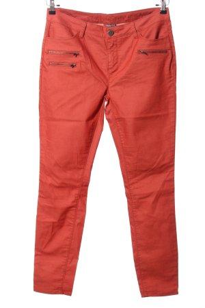 Street One Spodnie biodrówki czerwony W stylu casual