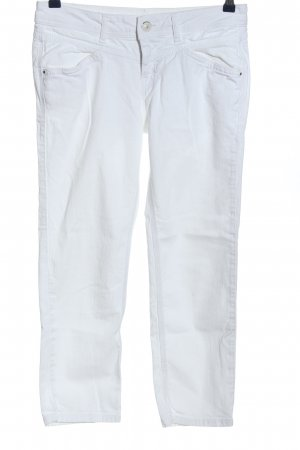 Street One Jeans taille basse blanc style décontracté