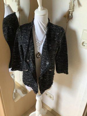 Street One Tweed blazer zwart