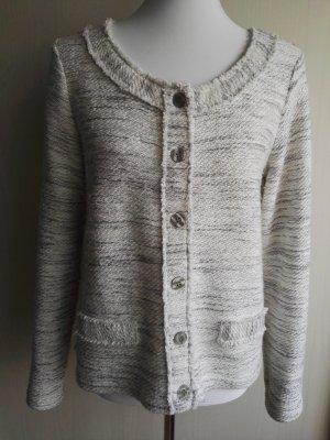 Street One Blazer tejido color plata-gris claro
