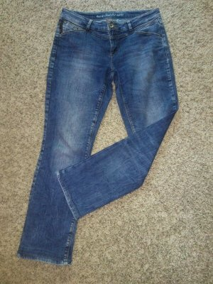 Street One Spodnie z pięcioma kieszeniami niebieski-stalowy niebieski Bawełna