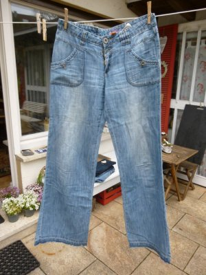 Street One Jeans large bleu