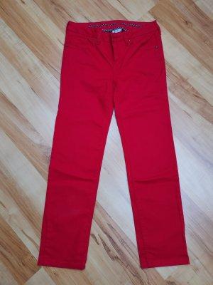 Street One Spodnie rurki czerwony-ciemnoczerwony Bawełna