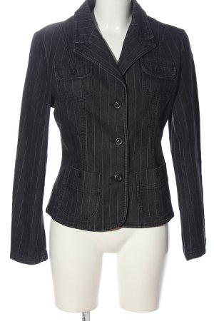 Street One Blazer in jeans grigio chiaro motivo a righe stile casual