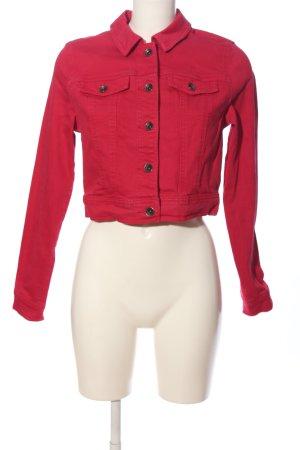 Street One Veste en jean rouge style décontracté