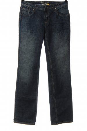 Street One Jeansschlaghose blau Casual-Look