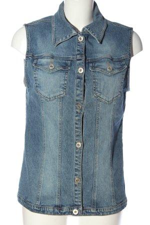 Street One Gilet en jean bleu style décontracté