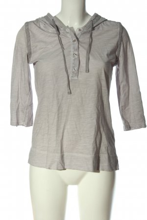 Street One Hooded Shirt light grey flecked casual look