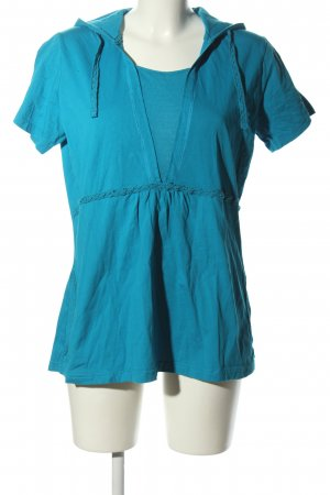 Street One Hooded Shirt blue casual look