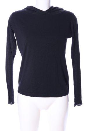 Street One Camicia con cappuccio nero stile casual