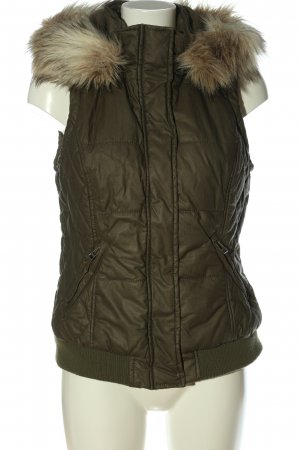 Street One Hooded Vest khaki quilting pattern casual look