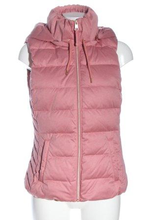 Street One Chaleco con capucha rosa estampado acolchado look casual
