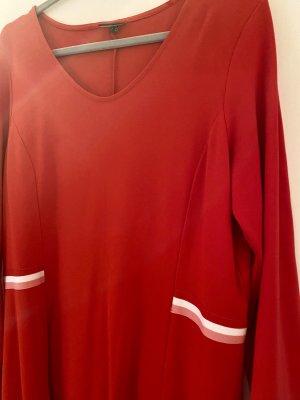 Street One Vestido de tela de jersey rojo-blanco