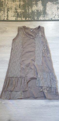 Street One Sukienka z baskinką jasnobrązowy