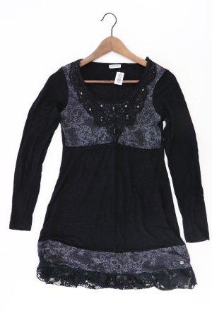 Street One Kleid mit Spitze Größe 36 Langarm mit Pailletten schwarz