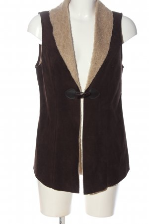 Street One Vest van imitatiebont bruin casual uitstraling