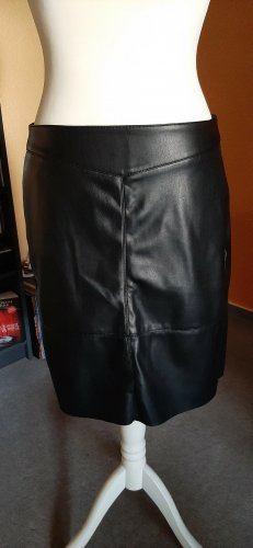 Street One Faux Leather Skirt black polyester