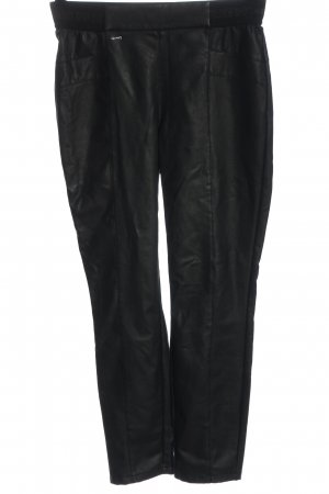 Street One Faux Leather Trousers black casual look